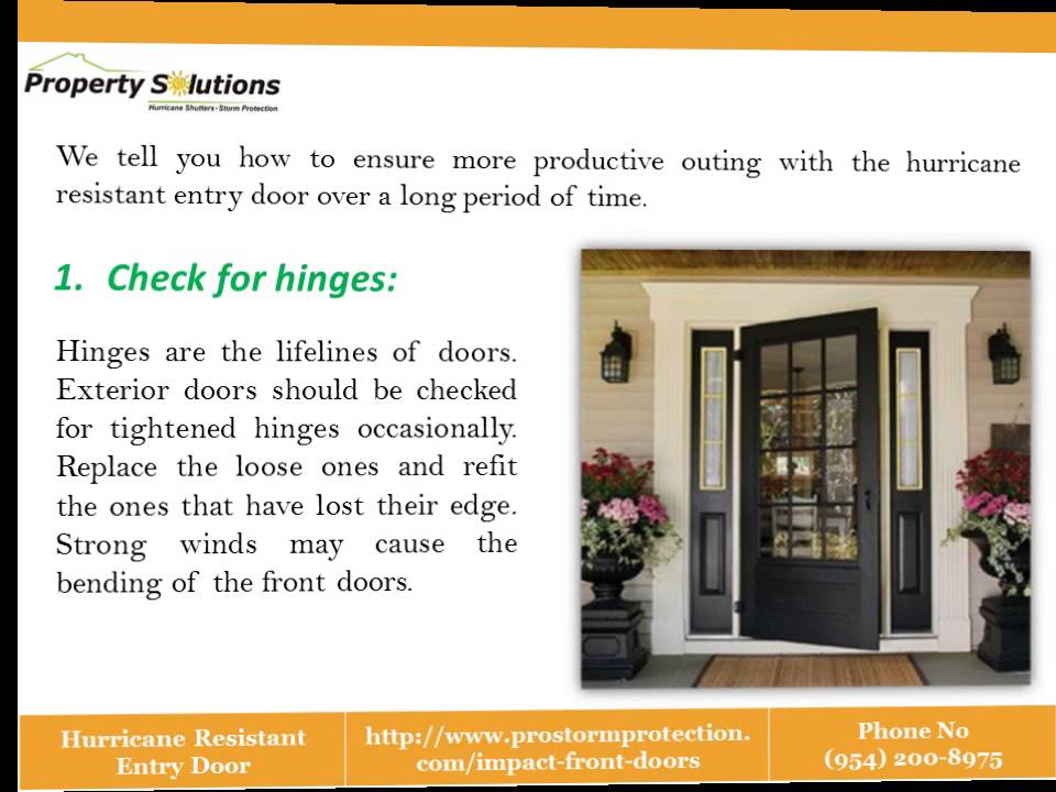 Hurricane Resistant Entry Door Youtube