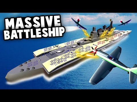 The BIGGEST BATTLESHIP Ever Made! MASSIVE  Naval BATTLE! (Ravenfield Best Mods)
