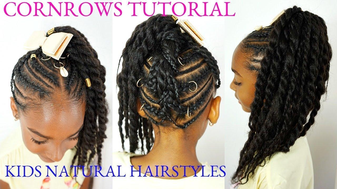 Kids Braided Natural Hairstyles Cornrows Tutorial Youtube