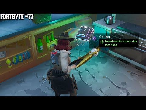 NEW FORTBYTE #77 LOCATION! Found within a Track Side Taco Shop Location! (All Fortbyte Locations)
