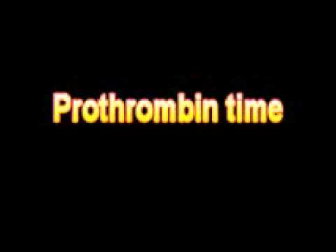 What Is The Definition Of Prothrombin time Medical School Terminology Dictionary