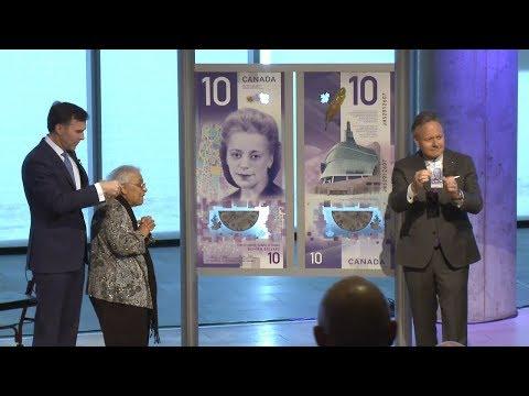 Unveiling of new $10 bank note / Dévoilement du nouveau billet de 10 $