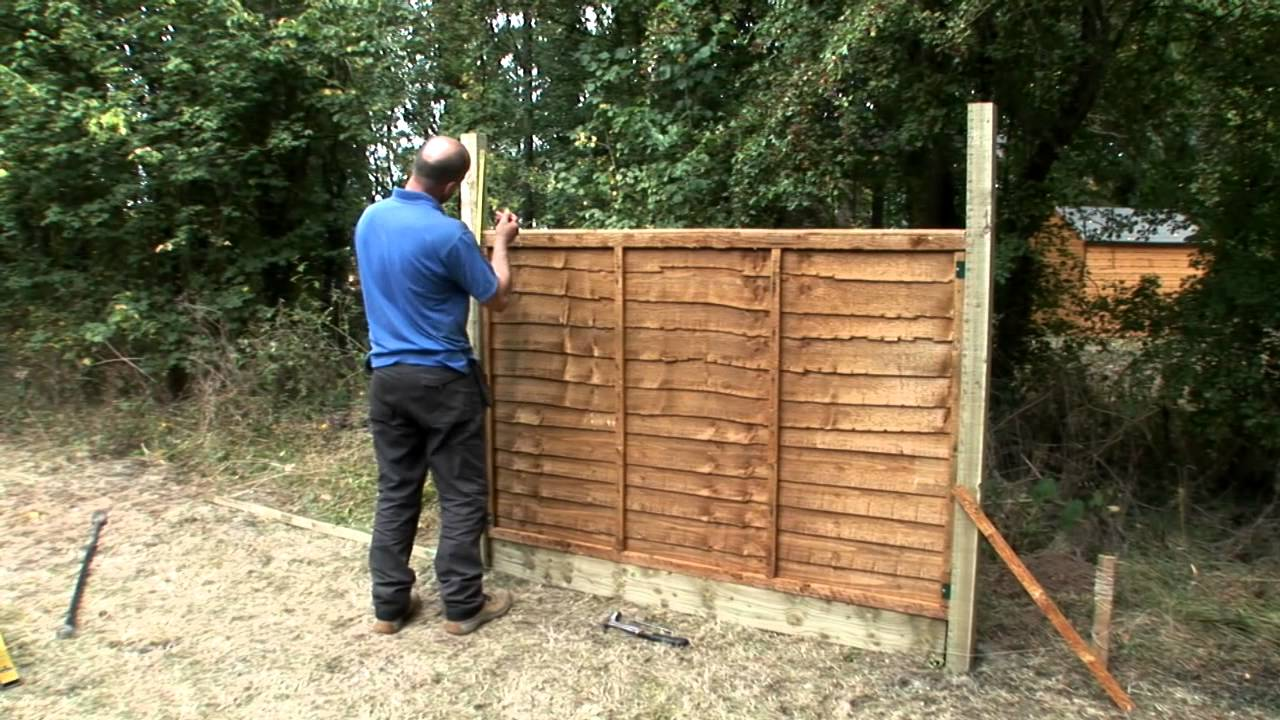 How To Fix Trellis Onto A Fence Panel Youtube
