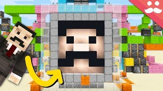 I made a Minecraft door out of my face