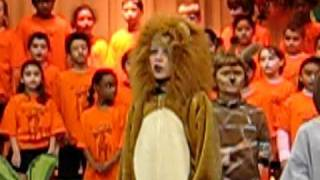 Dylan the Lion sings