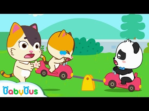 Baby Kitten, Play On The Seesaw Safely | Kids Safety Tips | Kids Song | Nursery Rhymes | BabyBus