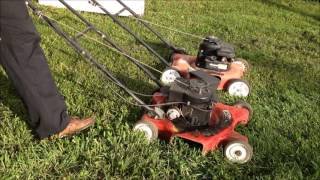 Two Fresh Trash-picked Mowers!  Starts! Champion and MTD