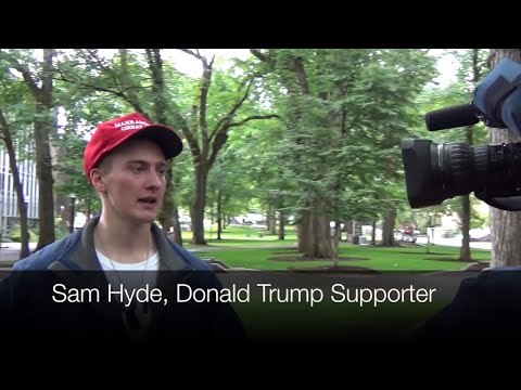 Sam Hyde, Donald Trump Supporter, Interviews With Media