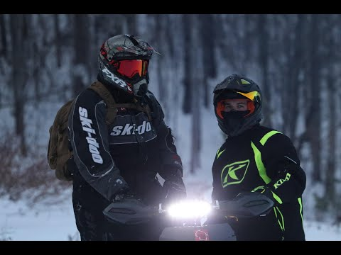 Late December Snowmobiling In Hayward WI 2019