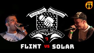 FLINT vs SOLAR @ Microphone Masters 9 @ freestyle battle