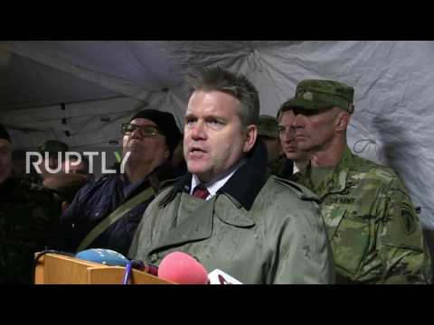 Romania: US troops join Romanian army for explosive joint tank drills