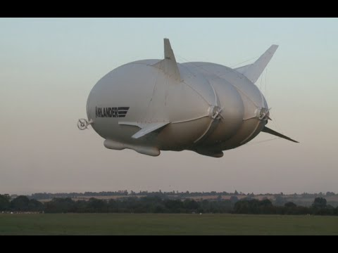 Giant Airship Airlander 10 Completes Its Maiden Trip in London