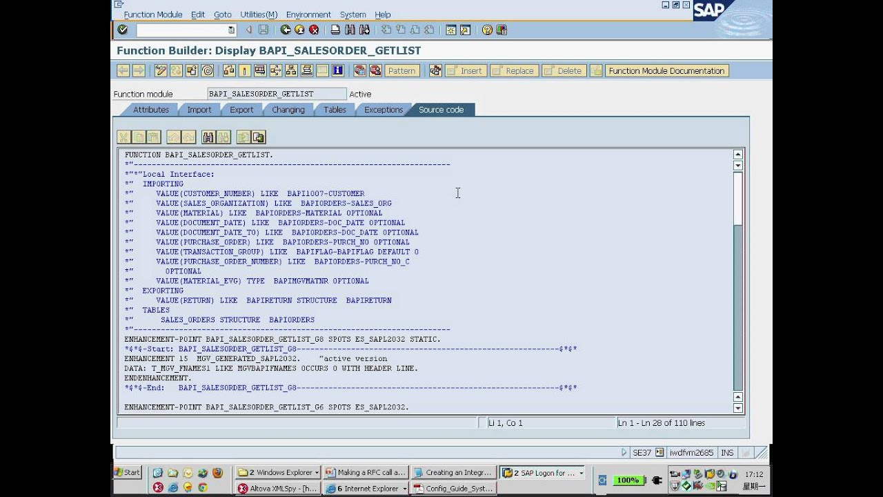 Part 5 Making a RFC call to SAP ERP or CRM within B1iSN