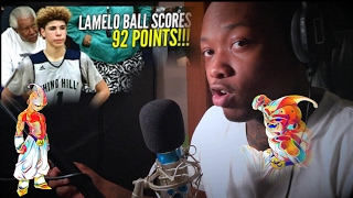 LaMelo Ball Scores 92 POINTS!!!! 41 In The 4th Quarter!! Chino Hills vs Los Osos!! REACTION!!!