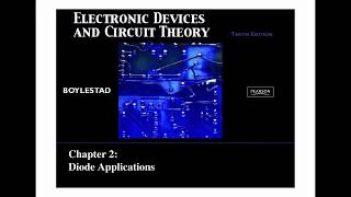 SUMMARY Electronic Devices and Circuit Theory - Chapter 2 (Diode Applications)