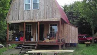 Off Grid Cabin - Installing Plywood Flooring - Installing Bracing - 9-12