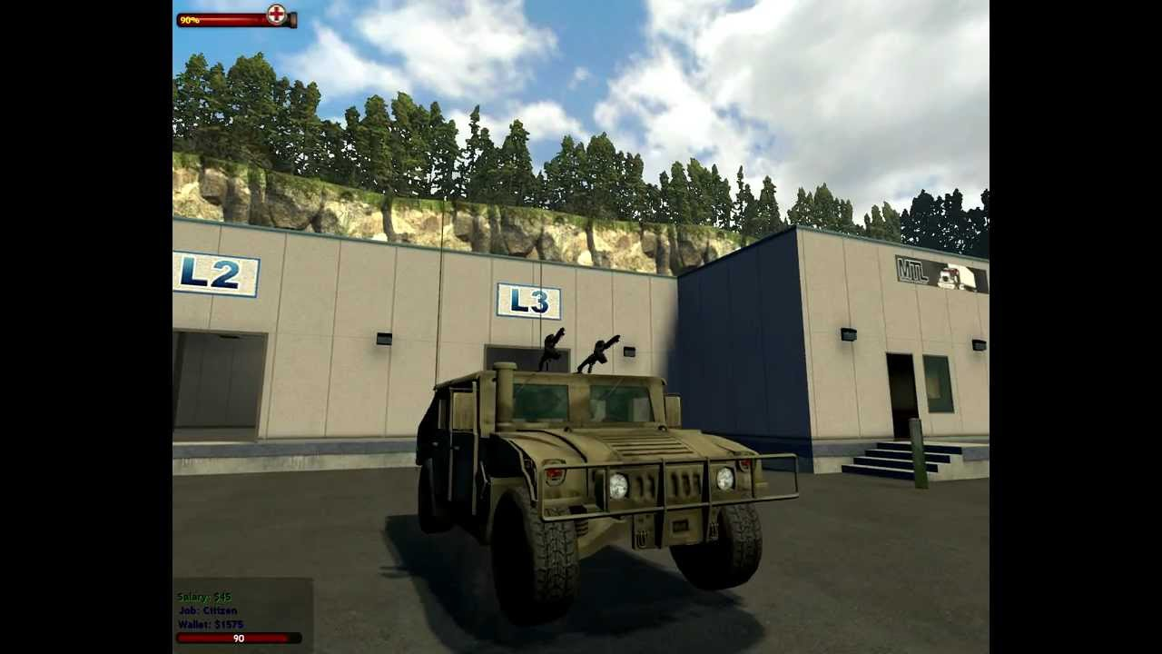 Hummer Militar Con 2 Ametralladoras Gmod 12 Youtube