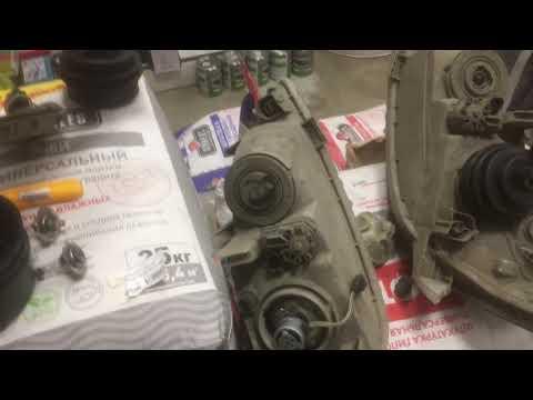 Led лампы H7 Toyota Camry 30 как поставить без геморроя