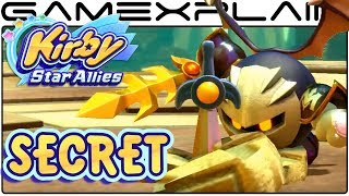 Kirby Star Allies - Meta Knight Gets Annoyed Easter Egg (Boss Fight Secret)