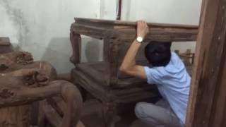 Khách Cẩm Phả, QN về ký ghế mun hoa da báo, 11-9-2016, Đồ Gỗ Đức Hiền