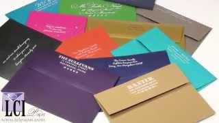 White Printing On Dark Colored Envelopes