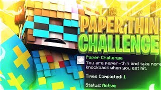 THE PAPER THIN CHALLENGE! [Hypixel Sky Wars Funny Moments]