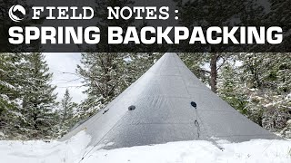 WET COLD SNOWY Wyoming Spring Lightweight Backpacking - Ryan & Chase