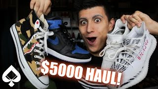 EPIC 20+ PAIR SNEAKER HAUL! | YEEZYS, JORDANS, BAPE and MORE! (Monthly Sneaker Pickups)