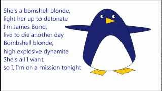 Скачать Owl City Bombshell Blonde HQ Lyrics And Penguin
