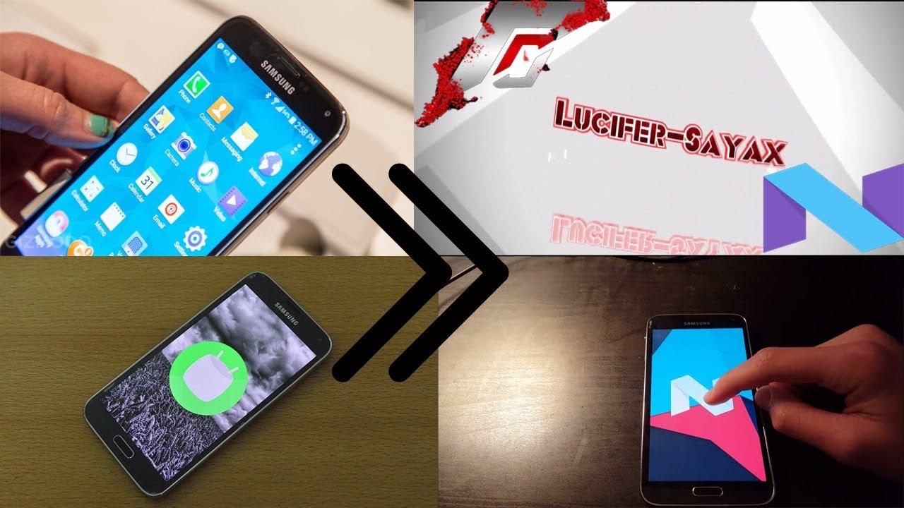 Galaxy S5 SM-G900F klte 7 1 2 Nougat Resurrection Remix v5 8 5