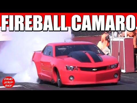 Fireball Camaro SS Street Outlaws Chevy Car Dragway of Magnolia 1K Grudge Race Cars Nitrous