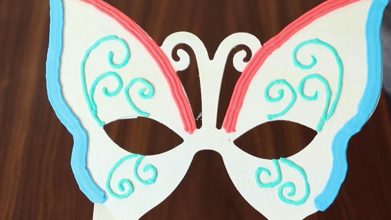 Diy masque papillon doh vinci youtube - Masque papillon carnaval ...