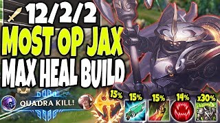 MECHA KINGDOMS JAX 🔥 MAX HEAL BEYOND BROKEN SEASON 10 JAX BUILD 🔥 LoL Top Jax vs Sett s10 Gameplay