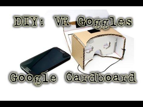 اصنع بنفسك : نظارة جوجل من ورق الكرتون المقوى Google Cardboard 4