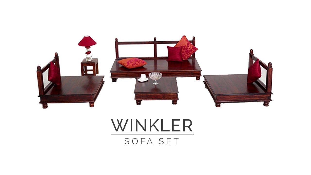 Wooden Sofa Set   Winkler Wooden Sofa Set Best In Wooden Sofas Design @  Wooden Street