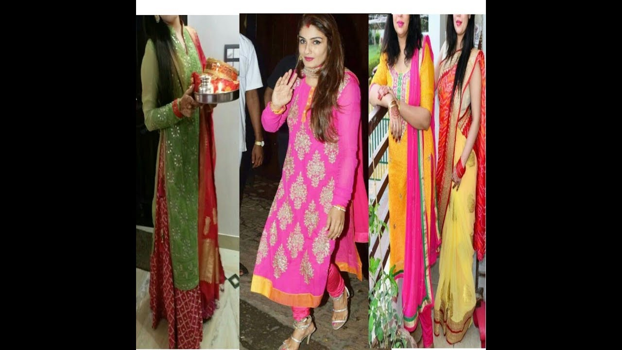 Karwa chauth special suits designs ideas 2018/19 || latest suits designs images