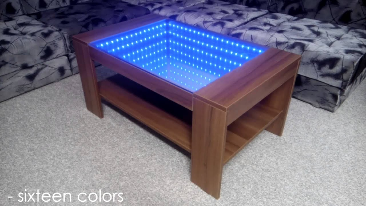 infinity mirror coffee table self made youtube. Black Bedroom Furniture Sets. Home Design Ideas