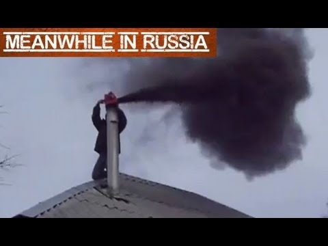 Cleaning A Chimney The Russian Way