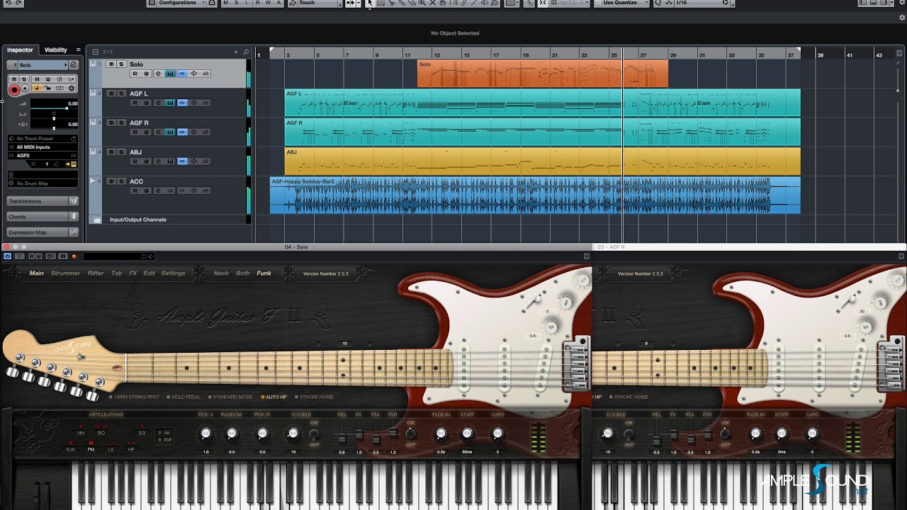 Ample Sound Release AGF Funk Extension and updates AGF to V2