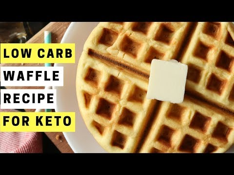 KETO WAFFLES RECIPE | HOW TO MAKE LOW CARB ALMOND FLOUR WAFFLES FOR THE KETO DIET