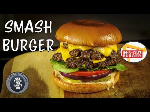 (242) In n Out Inspired Smash Burger - CopyCat Recipes - 36 Inch Blackstone Griddle - YouTube
