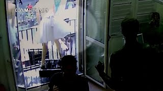 Raw: Security Footage Captures Barcelona Van