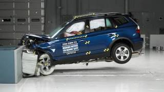 2008 BMW X3 moderate overlap IIHS crash test(2008 BMW X3 40 mph moderate overlap IIHS crash test Overall evaluation: Good Full rating at http://www.iihs.org/ratings/rating.aspx?id=876., 2010-08-23T15:22:25.000Z)