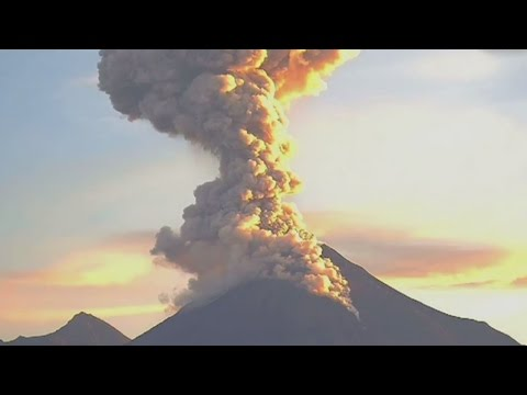 Colima volcano erupts in Mexico causing pyroclastic flows
