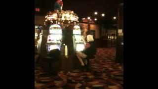Lady slapping slot machine