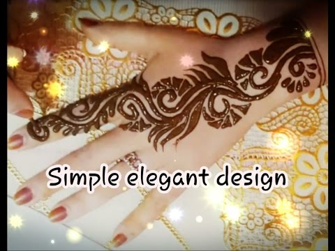 Simple Elegant Henna Tattoo Easy To Apply Youtube