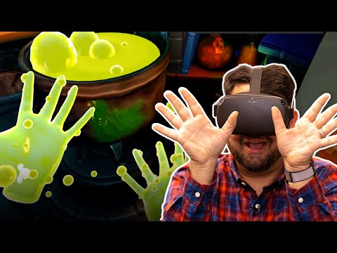 Playing Oculus Quest's newest hand-tracking demo in VR