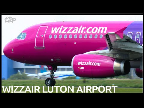 Low Cost Luton Airport - Wizz air EasyJet Ryanair First Choice Monarch Flybe HD High Definition