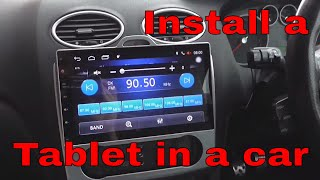 How to install Tablet Headunit in a Car - Seicane - Project Focus ST