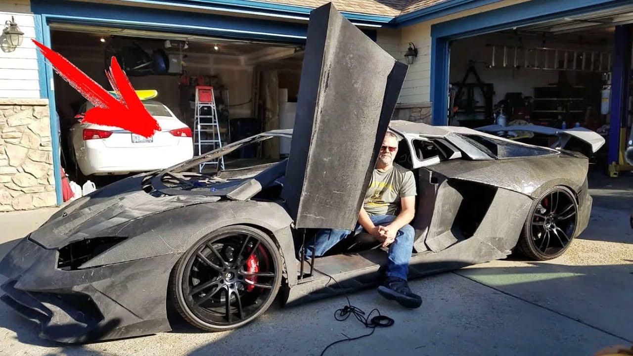 Този баща си купи 3D принтер и напечата на сина си Lamborghini в гаража! Съседите в шок!
